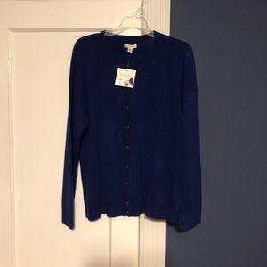 Croft & barrow royal blue cardigan in XL